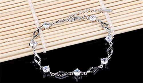 Damen 925 Sterling Silber Ziakonia Armketten Brautarmband Paar Schmuck Geburtstagsgeschenk