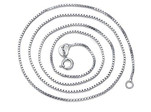 Damen Ketten Schmuck aus 925 Sterling Silber Halskette in 45 CM