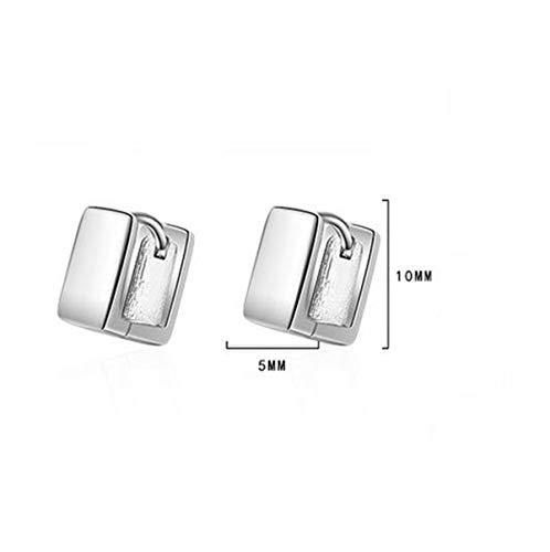 2 Stück klassische Platz Ohrringe Wunderschöne, exklusive Ohrhänger im aktuellen Design aus unserer neuen Kollektion 925 Silber. Klapp-Creolen Edelstahl 5mm breit.Mit einer schönen Schmuckschatulle (1 Paar)