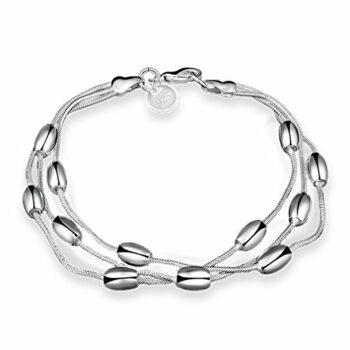 Damen Armband Armkette Armreifen Charm Armreif aus 925 Sterling Silber als Weihnachtsgeschenke