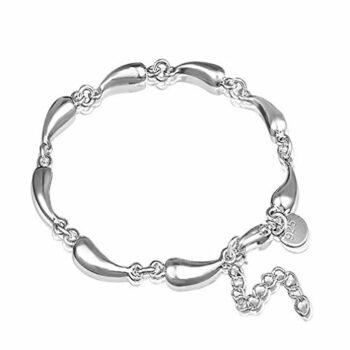 Damen Armband Mode Armreifen Schmuck 925 Sterling Silber Polieren Tropfen Armkette