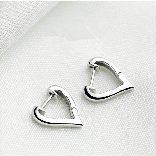 <strong>New Collection</strong> Ohrringe Damen Einfache Ohrringe,Silber 925 V-förmige Liebesohrringe, Modeschmuck Geschenke für Weihnachten Geburtstag Hypoallerge