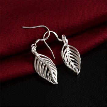 <strong>New Collection</strong> Ohrringe Hänger Damen Mädchen 925 Sterling Silber lang Engelsflügel mit Zirkonia wunderschöne, exklusive Ohrhänger im aktuellen Design aus unserer neuen Kollektion
