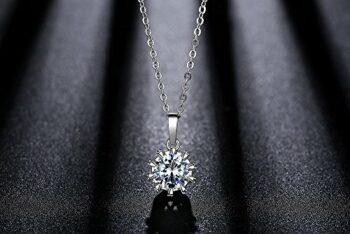 <strong>New Collection</strong> Silber 925 Kette mit Anhänger Damen-Kette Zirkonia Stein Halskette Silberkette Ketten-Anhänger Geschenk Damen/Frau/Freundin/Tochter